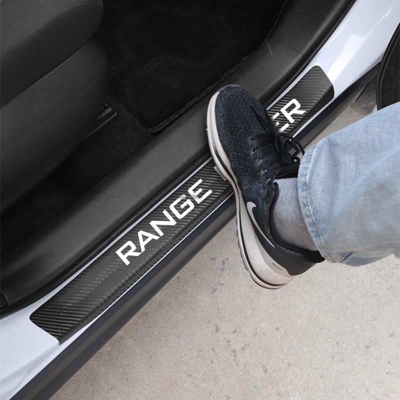 4 шт. защитные наклейки из углеродного волокна на пороги автомобиля Land Rover Range Rover Evoque Defender Discovery Freelander SV SVR