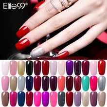 Elite99 – Vernis à ongles de couleurs pures, Gel UV à tremper, 58 couleurs, Art de manucure et de pédicure, Semi-Permanent, apprêt Gellak, 10ml
