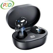 PJD A6S Plus TWS – écouteurs Bluetooth sans fil, oreillettes stéréo, Sport, stop-bruit, Mini oreillettes pour tous les téléphones intelligents