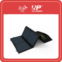 ALLPOWERS 5V21W Portable Phone Charger Solar Charge Dual USB Output Mobile Phone Charger for iPhone Samsung Smartphone