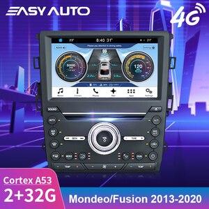 Автомагнитола для Ford Mondeo Fusion, стерео, сенсорный экран, DVD плеер с поддержкой Google Map, Bluetooth, Wi-Fi, встроенный в Carplay