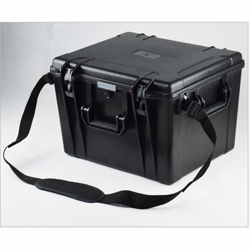 460 x420x320 mm ABS įrankių dėklo įrankių dėžė. Atsparus smūgiams, hermetiškas, neperšlampamas, apsauginis korpusas, fotoaparato dėklas su iš anksto supjaustytomis putomis