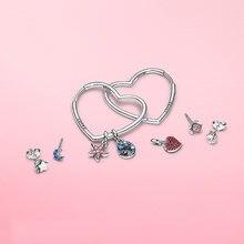 S925 серебряные серьги любят в форме сердца Стерлинговое Серебро