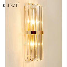 Kluzzi Simple Nordic Gold Iron Crystal Wall Lamp Living Room Creative Decorative Wall Lamp Corridor Bedroom Corridor Wall Lamp