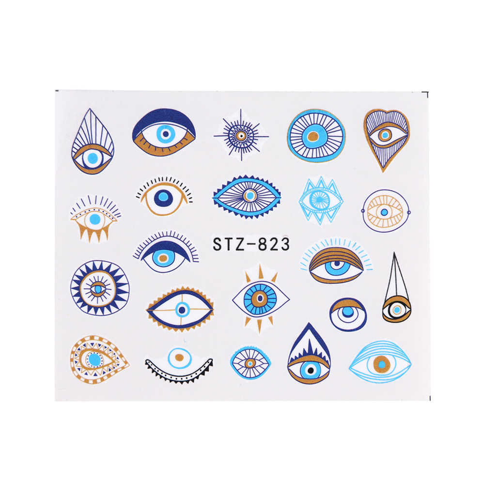 1pc Eye Series Water Transfer Slider สำหรับเล็บตกแต่งศิลปะ Charming สติกเกอร์เล็บรอยสักฟอยล์ Decals