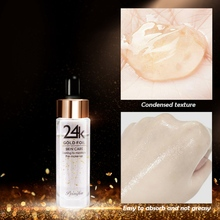 24 Gold Moisturizing Make-up Primer Hydrating Shrinking Pores Firming Skin Face Makeup Primer недорого