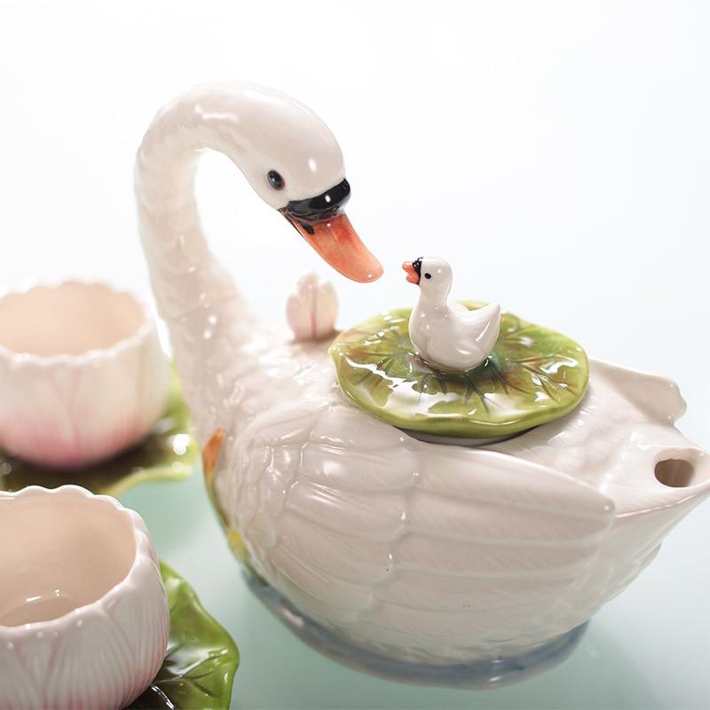 Fu tee set kaffee maker kaffee tasse teller Valentinstag geschenk teekanne tee tasse - 3
