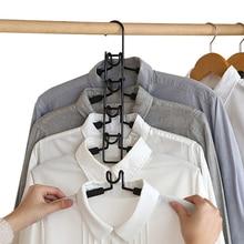 Multi lagen Kleerhanger 5 in 1 Afneembare Broek Houder Garderobe Anti Slip Spons T Shirt Jeans Rack Ruimte saving Organizer