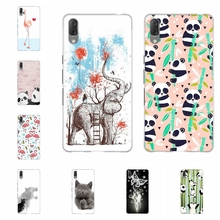 For Sony Xperia L3 Case Ultra-thin Soft TPU Silicone Cover Panda Patterned Bumper Funda