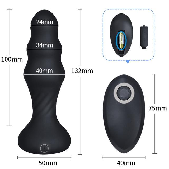 Anal Plug Vibrators For Men Prostate Massager Masturbators Women Vagina Stimulator Dildos Remote Control Male Anus Butt Sex Toys 6
