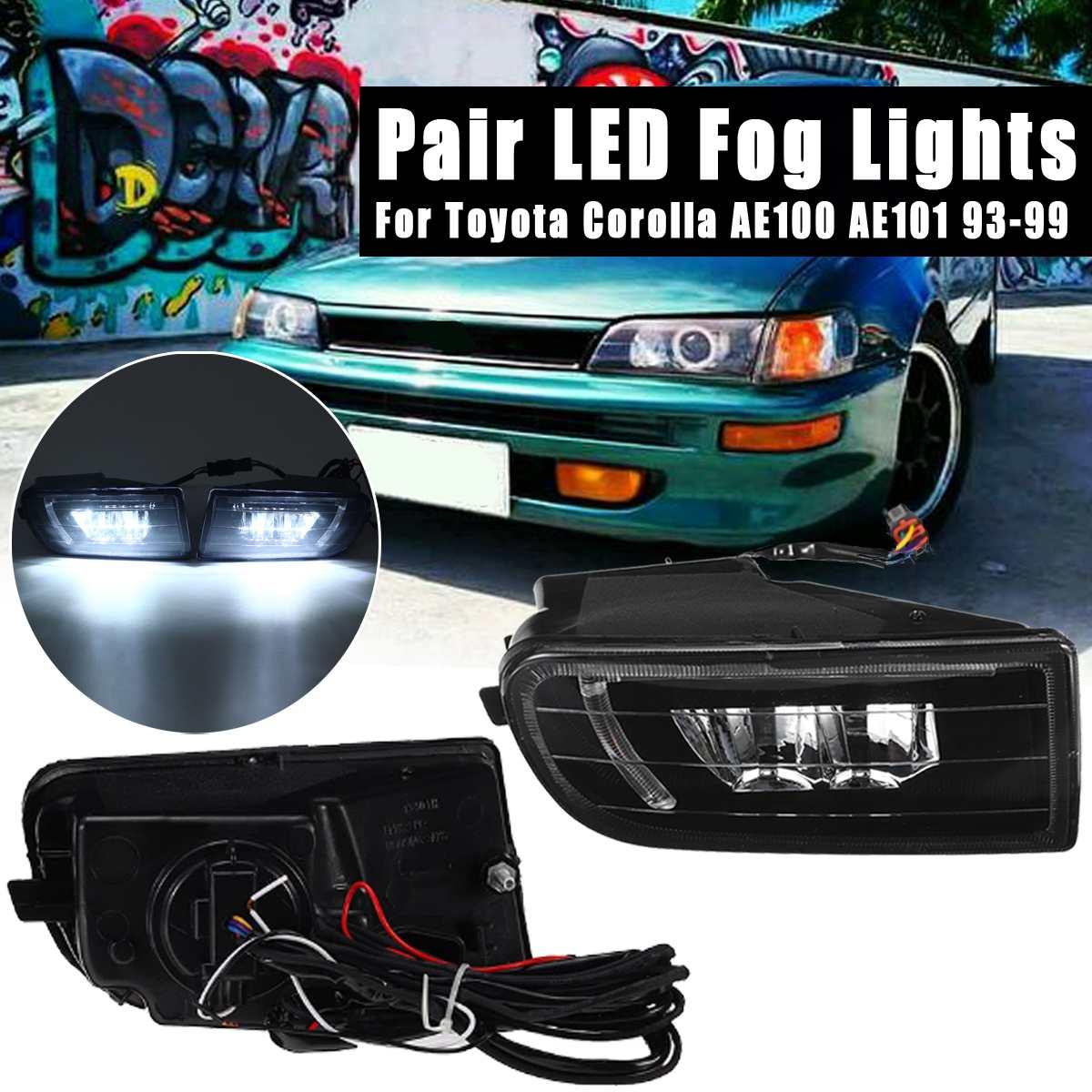 Pair Fog Lamp Assembly Super Bright Fog Light For Toyota Corolla AE100 AE101 1993 1994 1995 1996 1997 1998 1999 Led Fog Lights