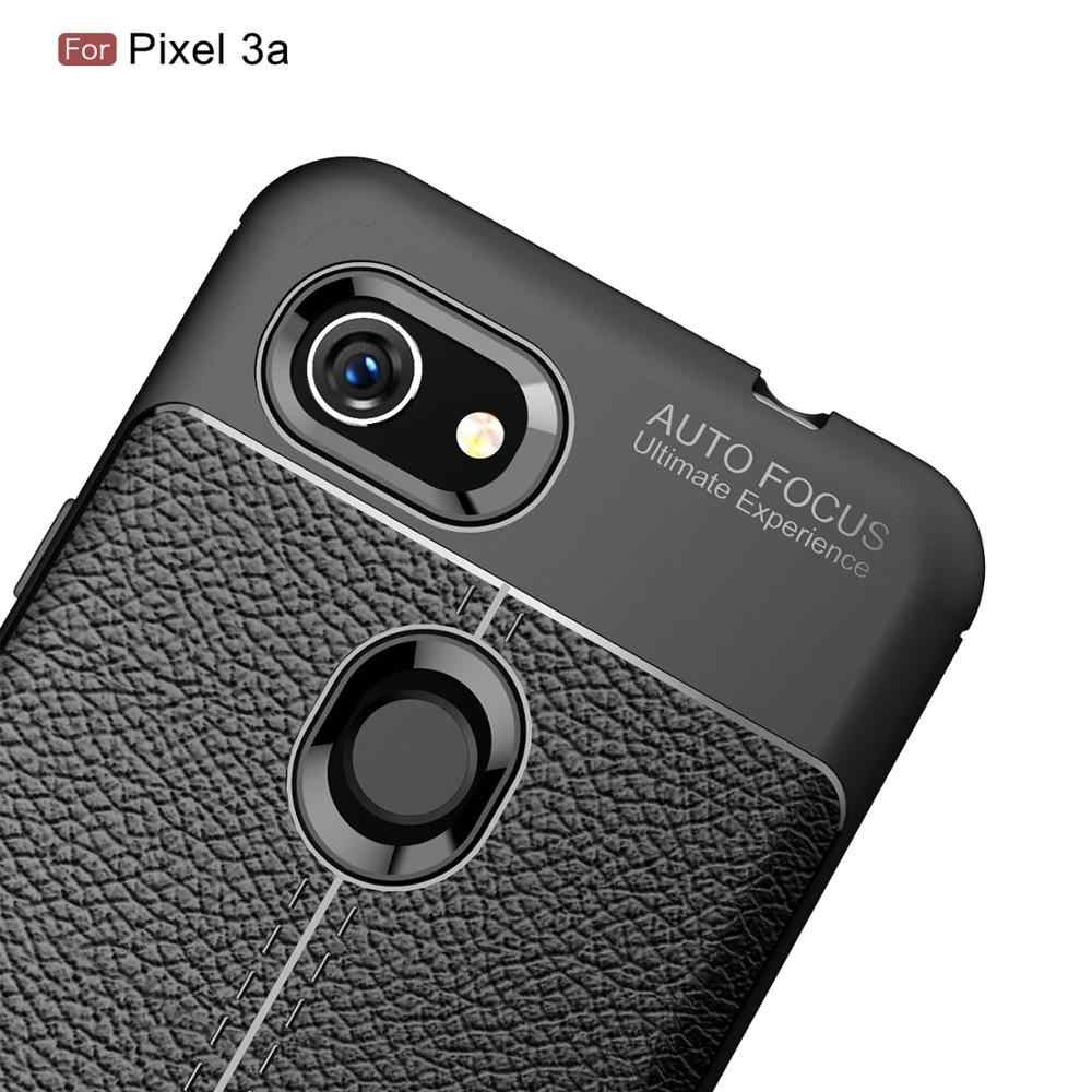 Case For Google pixel 3 3A XL Lite Case Luxury Soft Leather Matte Back Cover Silicone Coque For pixel 3XL 3AXL Lite Cases