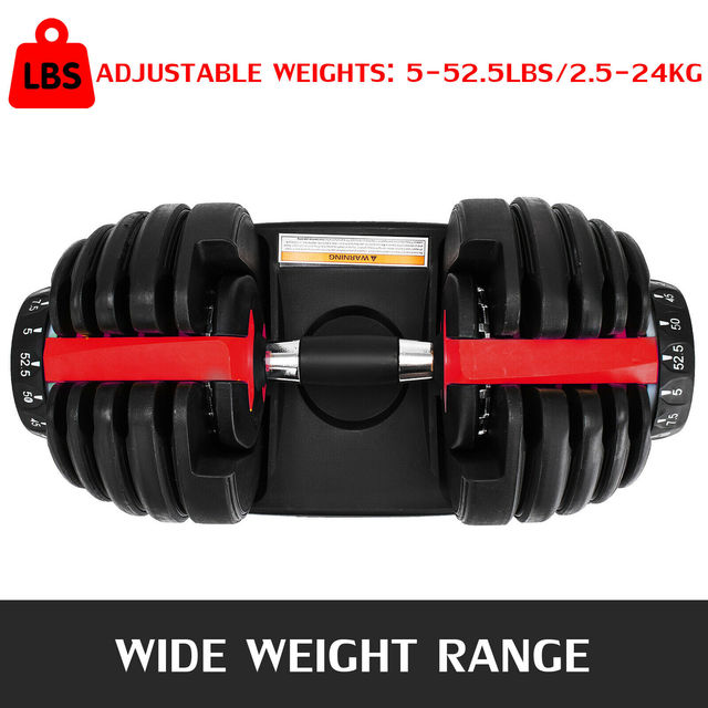 1Pcs 24kg Adjustable Selectable Dumbbells Weights Home Gym 52lbs  2