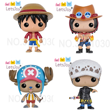 letsjoy pop horse one piece anime luffy On top of the war Chopper Trafalgar Law Ace model hand-done doll High Quality Waterproof