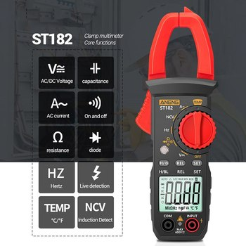 Smart Digital Clamp Meter Digital Multimeter Tester Clamp Meter 400A AC/DC Clamp Digital Ammeter Backlight Clamp Meter image