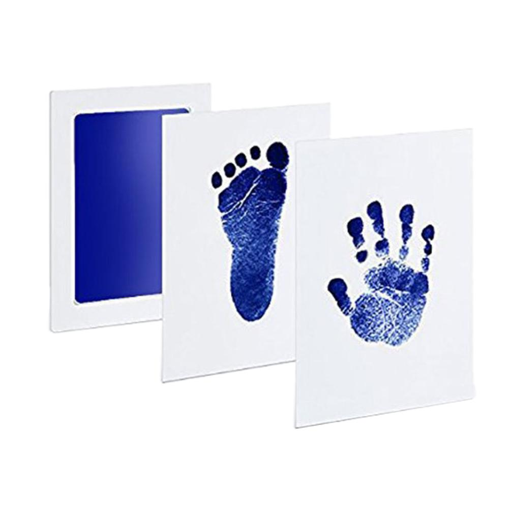 Baby Footprint And Handprint Stamp-Pad Ink Anti-Counterfeiting Hand And Foot Printing Pad Baby Footprint Printing Non-Stick Ink