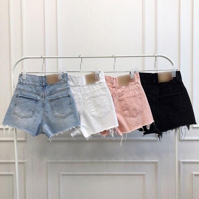Vintage Ripped Jeans Shorts Women Plus Size High Waist Denim Shorts Female Summer Chic Streetwear Stylish Sexy Hot Shorts Girls 5