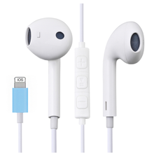 In Ear Earphone for iPhone 12 7 8 Plus XS MAX 11 Pro Max Stereo Sound Wired Earbuds with Microphone Wire Control ( Bluetooth )