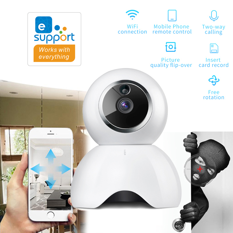 EWeLink Smart IP Camera IOT 720P HD Camera Reomotely Viewing By Mobile Phone Two-way Audio Intercom Night Vision IR LED
