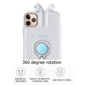 Image 4 - Für iPhone SE 2020 11 Pro Max Xs Max Xr 8 7 6 6s Plus Fall Finger Ring Halter lade Abdeckung Für AirPods 1 2 Bluetooth Kopfhörer