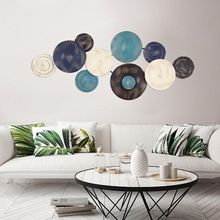 Wall of sofa bedroom setting wall is decorated on contemporary contracted sitting room soft outfit iron art