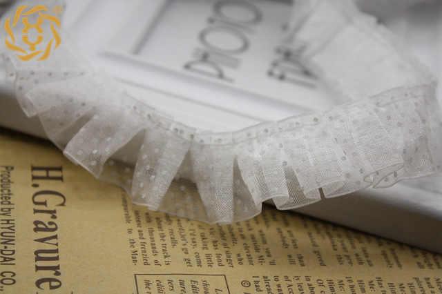 1M son pilili 3D tül dantel Trim gipür yeşil nokta dantel kumaş 2.5cm dantel yaka dikiş elbise aksesuarları dentelle JH101