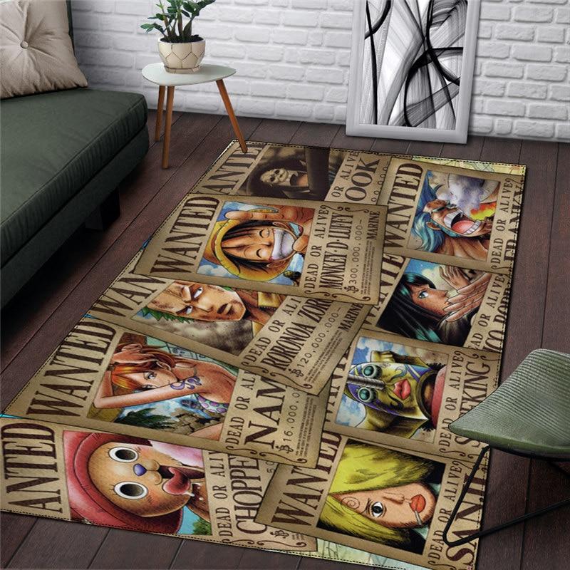 One Piece Rug Home Carpet Luffy Anime Retro Fashion Christmas Gift Cosplay Bathroom Bedroom Boys Picnic Travel Drop Ship