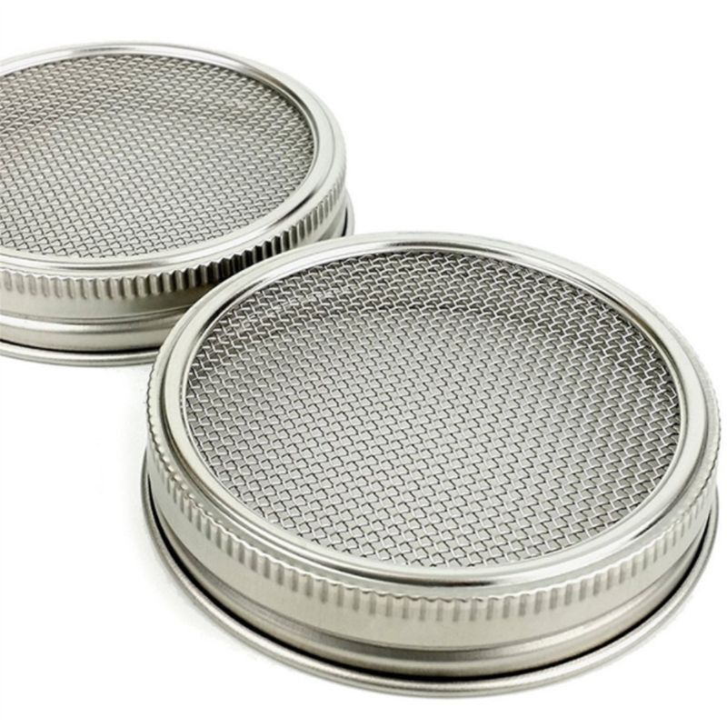 Kenley Seed Sprouter Kit - Sprouting Mason Jars with Stainless Steel Strainer Lids - Germinator Set to Grow Your Own Sprouts