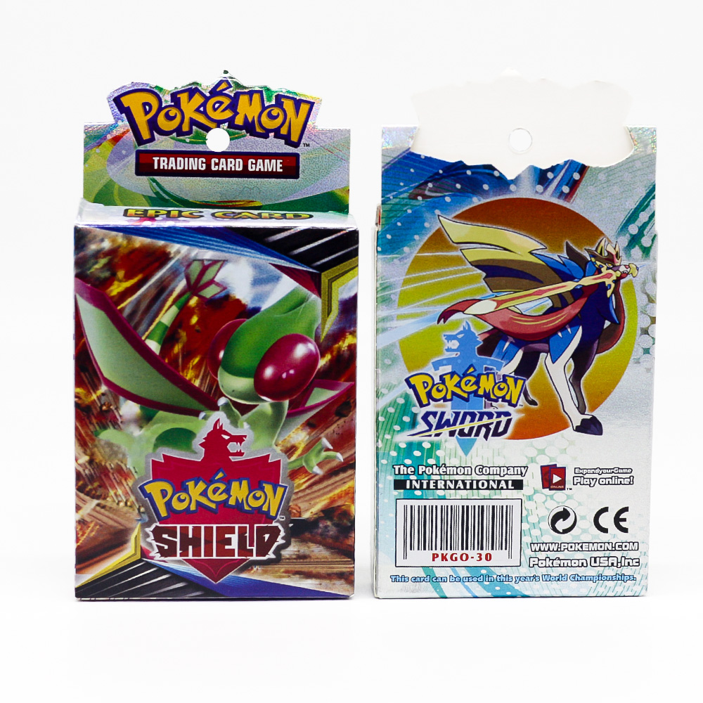 Takara Tomy Pokemon Card Sword and Shield Shining Box GX Flash Cards Energy Trainer Tag Team 25pcs Board Game for kids image