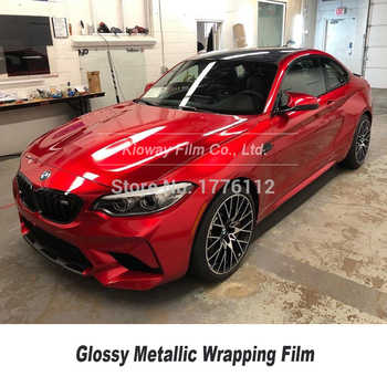 Premium Wrapping Film gloss rossetto rosso come gloss metallic vinile wrap Rotolo Per auto vinil wrap Gloss metallic Vinile