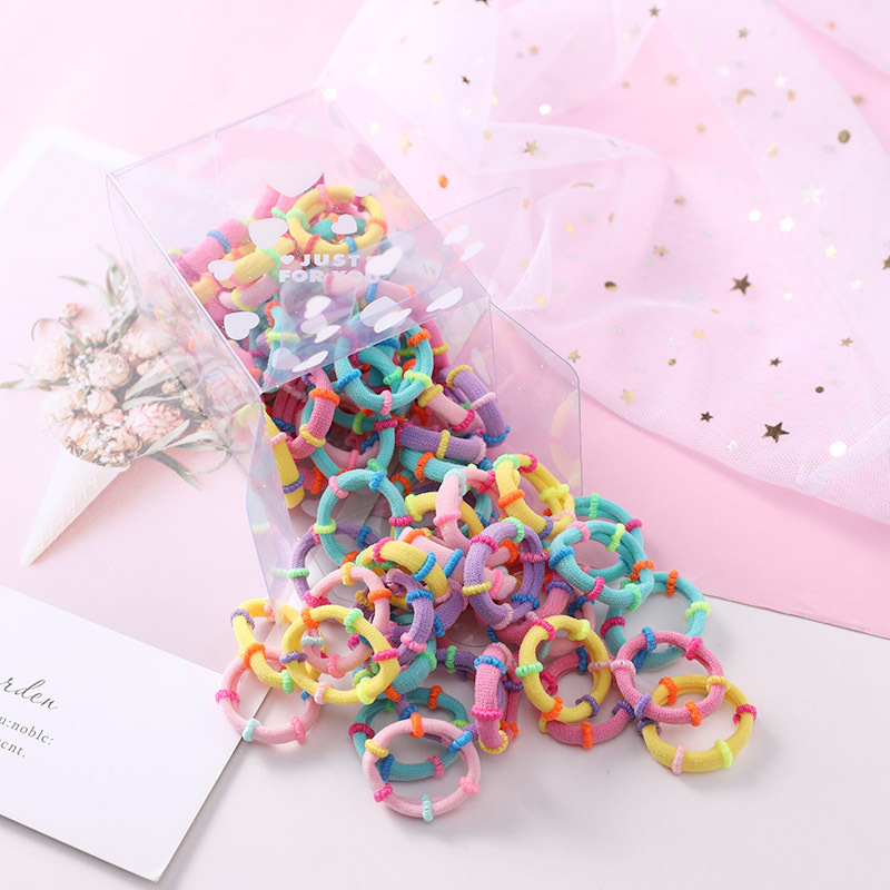 50PCS Set 3CM Girls Children Small Ring Rubber Band Kids Cute Elastic Hair Band Ponytail Holder Scrunchie Kid Hair Accessories in Girl 39 s Hair Accessories from Apparel Accessories
