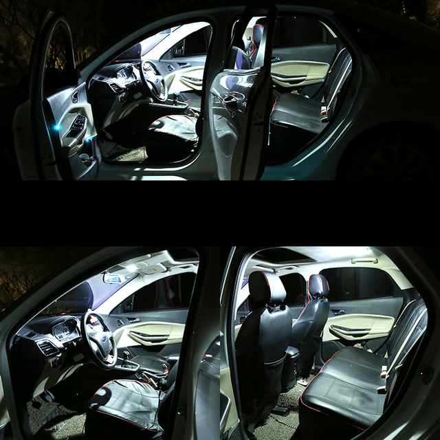 9pcs White Canbus LED Interior Light Map Dome Bulbs Kit Fit For 2015 2016 2017 Chrysler 200 Reading Ceiling TrunkLicense Lamp 3