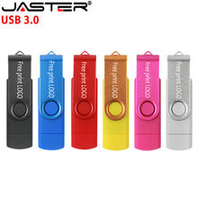 Jaster Otg Usb 3.0 Flash Drive 128Gb High Speed Pen 64Gb 32Gb 16Gb 8Gb Geheugen stick (Over 10Pcs Gratis Logo)