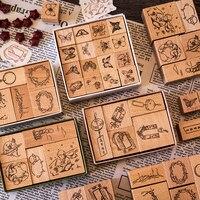 Vintage Schmetterling Planeten Prinz dekoration stempel holz stempel für scrapbooking schreibwaren DIY handwerk standard stempel