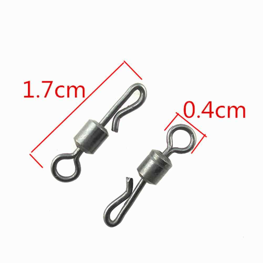 20 Pcs Rolling Quick Change Wartels Q-Vormige Size 4 Snap Connectors Karpervissen Terminal Tackle Accessoires Lichtgewicht