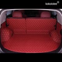 kokololee Full set car trunk cargo liner mats & Rear door mat for Toyota Land Cruiser Prado 150 5 seats 2018 2010 boot carpets   -