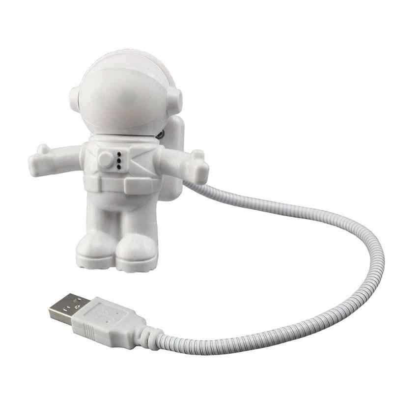 Прочная настольная лампа, долговечная, низкая мощность, USB светодиодный ночник, астронавт, регулируемый светильник для чтения книг, Настольный светильник для детской спальни