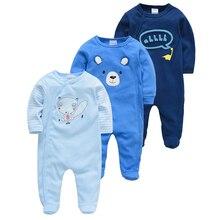 Baby Newborn Girl Infant Cotton Honeyzone 3pcs Jumpsuit Footies Soft Boy Breathable