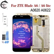 LCD مع الإطار ل ZTE بليد A6/A6 لايت A0620 A0622 كامل شاشة الكريستال السائل محول الأرقام بشاشة تعمل بلمس الاستشعار الجمعية A6 A6lite العرض