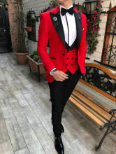 Jeltonewin 2020 на заказ 3 предмета красные костюмы для свадьбы