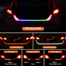 Turn Signal Flow led Trunk Strip light Tailgate luggage 12V Car Rear Lamp Dynamic Streamer Floating RGB strip