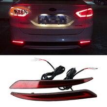 2 шт. для Ford Mondeo Fusion 2013 светодиодный светильник на бампер задний противотуманный фонарь тормозной светильник сигнальный светильник поворота отражатель