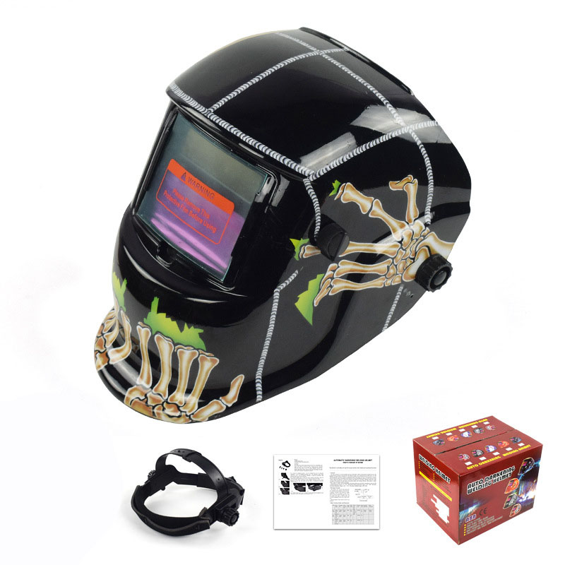 Solar Automatic Variable Photoelectric Welding Mask Argon Arc Welding Helmet Head-mounted Welding Cap
