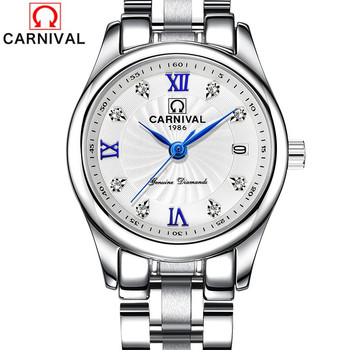CARNIVAL Women Watches Top Brand Luxury Ladies Quartz Wrist Watch Womens Fashion Waterproof Dress Clock Woman Relogio Feminino