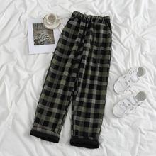 2021 moda jesień zima spodnie w kratę Harajuku spodnie do joggingu Streetwear Casual Sweatpant jesień tanie tanio Proste POLIESTER Mikrofibra REGULAR Spodnie do kostek Z KIESZENIAMI CN (pochodzenie) HIGH W paski Mieszkanie Dla osób w wieku 18-35 lat