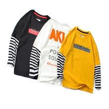 Детская одежда футболка с длинными рукавами в Корейском стиле