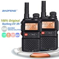 פלוס uv 2pcs Baofeng UV-3R + פלוס מיני מכשיר הקשר ניידת רדיו UHF VHF שני הדרך רדיו Comunicador Uv 3R Hf משדר radiotelefon (1)