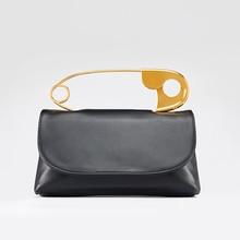 Metal Large Pin Handbags Women Clutch Bag Fashion Shoulder M