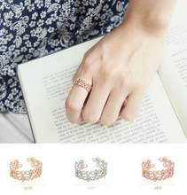 Женское открытое кружевное кольцо s925silver в японском и корейском