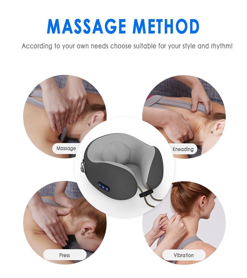 amassar massagem travesseiro cervical memória espuma travesseiro cama